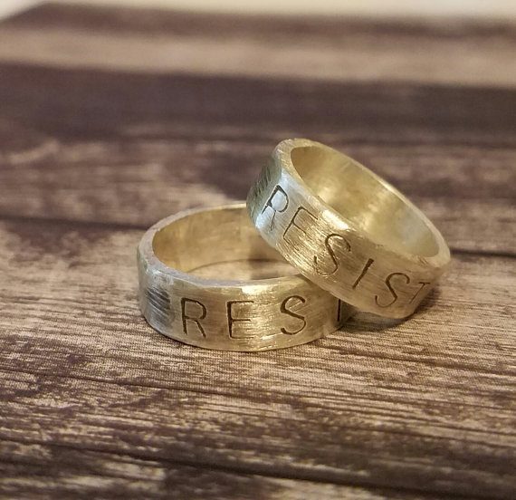 Resist Ring inspired by the Women's March (10% Proceeds Donated to HRC) $35 @etsy.com