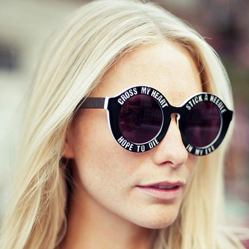 Cross my Heart, Hope to die Sunglasses, $9.99