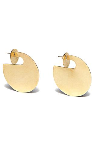 Statement Double Coin Plate Jacket Earrings, $72 @accompanyus.com