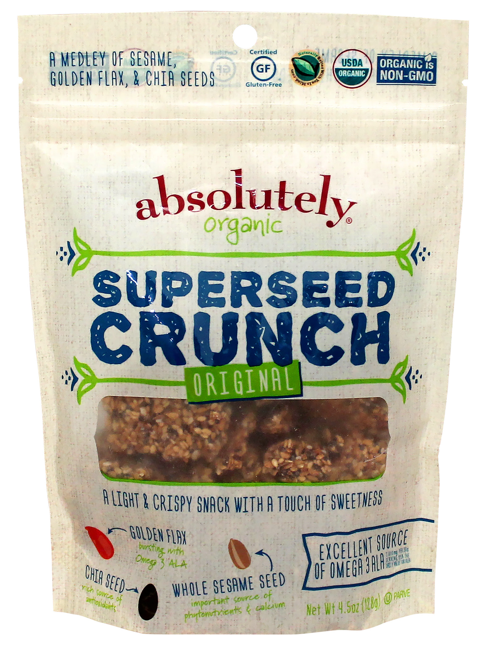 Absolutely Gluten-Free Organic Superseed Crunch