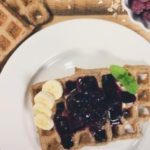 The Best Gluten and Dairy Free Waffles & Blueberry Sauce Recipe