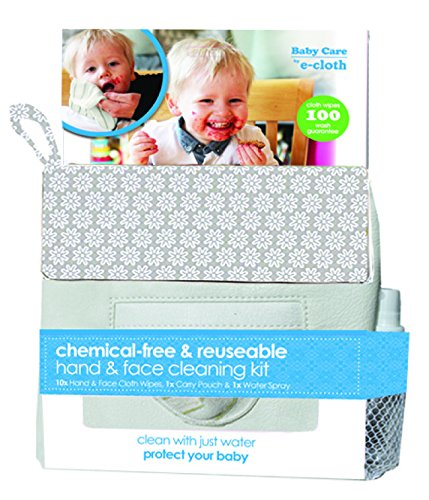 e-cloth Baby Cleaning Kit - Chemical-free & Reusable Hand & Face Cleaning Kit 13pc, $29.99 @amazon.com