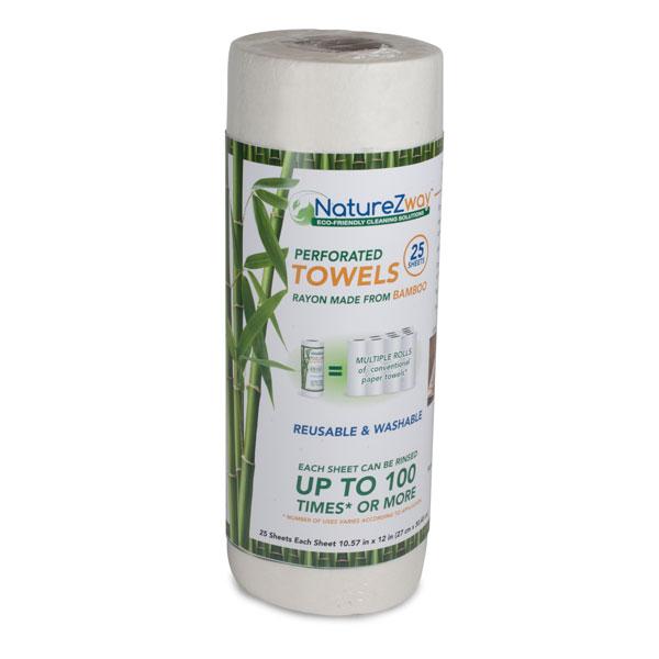 NatureZway Bamboo Reusable Perforated Towels, $9.95 @amazon.com