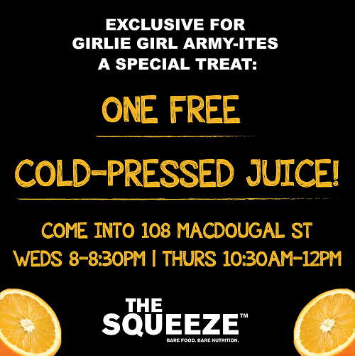 FREE Juice At The Squeeze In NYC Tonight & Tomorrow AM!