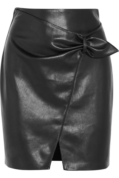 NANUSHKA Cascade faux leather mini skirt, $340 @netaporter.com