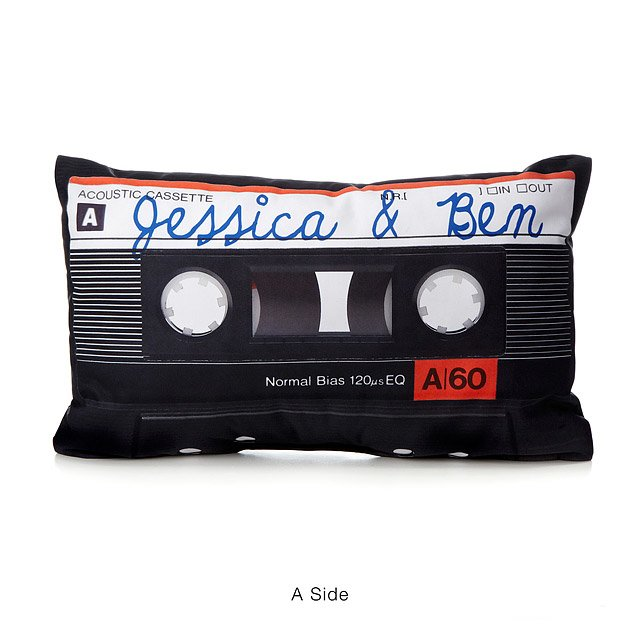 Personalized Mixtape Pillow (any words/ expression/ names), $58 @uncommongoods.com