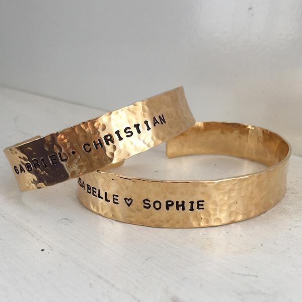 Personalized Cuff Bracelet, $75 @isabellegracejewelry.com