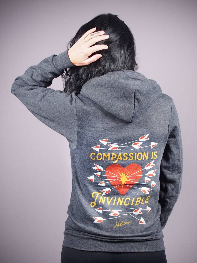 Compassion Is Invincible Hoodie $55 @herbivoreclothing.com