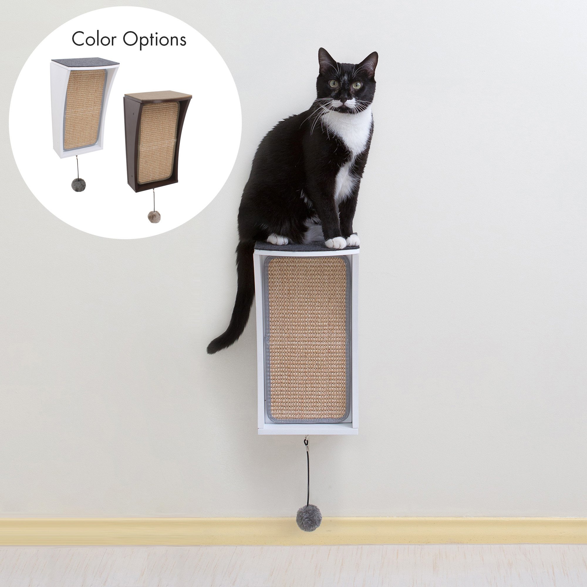 Hauspanther CATchall Wall-mounted Cat Scratcher, Perch & Storage by Primetime Petz, $39.99 @hauspanther.com