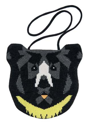 Knitted Moon Bear Bag (Proceeds go to Animals Asia), $50 @shop.animalsasia.org