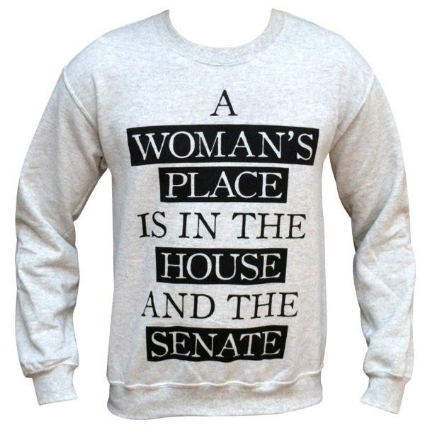 'A Woman's Place' Sweater, $38 @wickedclothes.com