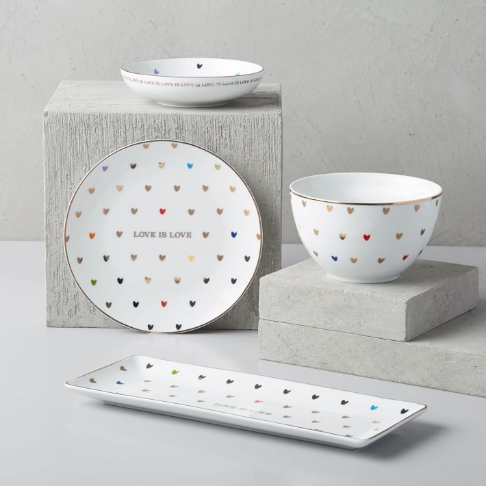 Love is love dinnerware, $12-50 @westelm.com