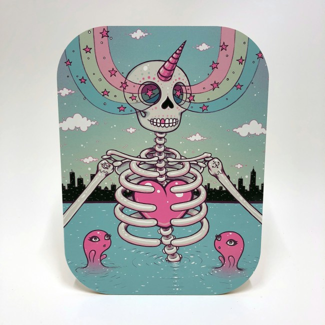 Skelton Heart by Tara Mcpherson, $90 @printsonwood.com