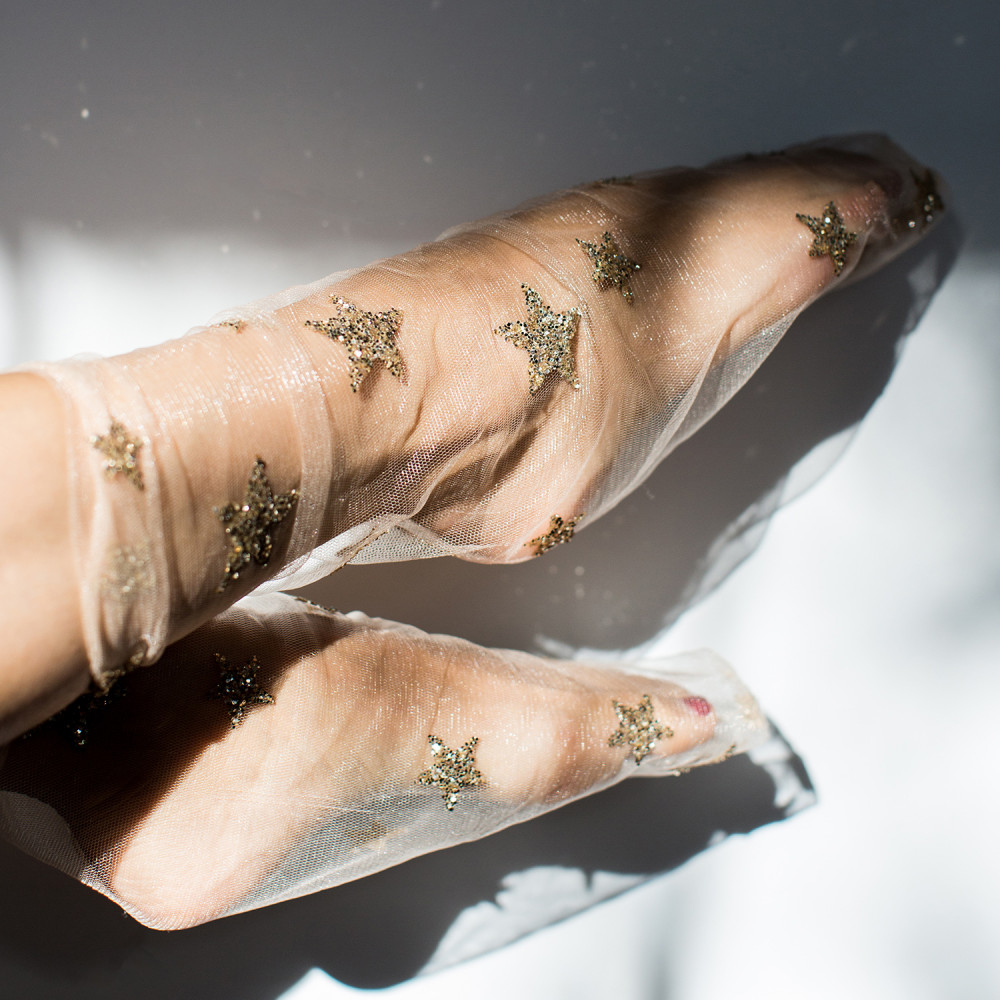 Among the Stars tulle socks, $32 @catbirdnyc.com