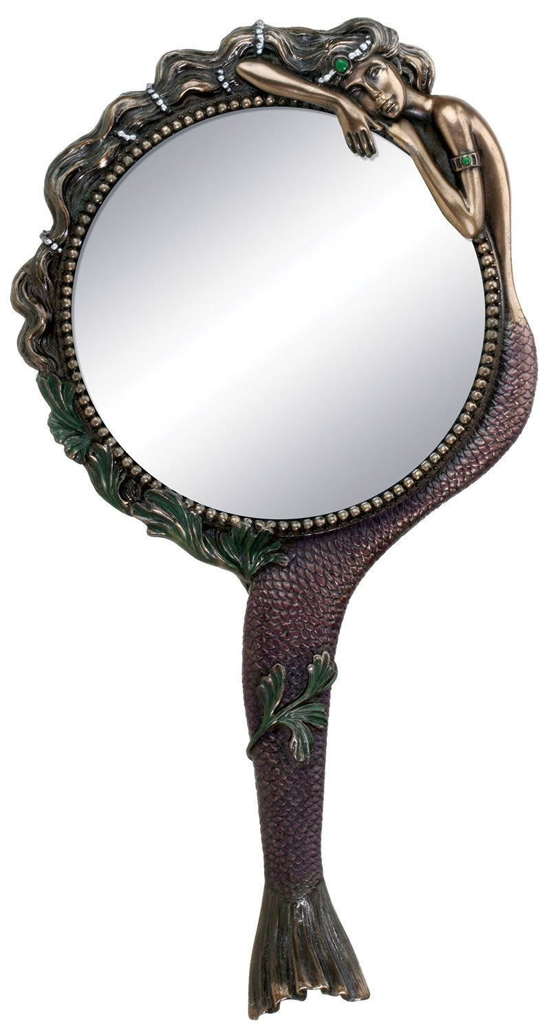 Art Nouveau Mermaid Hand Mirror Nymph, $35