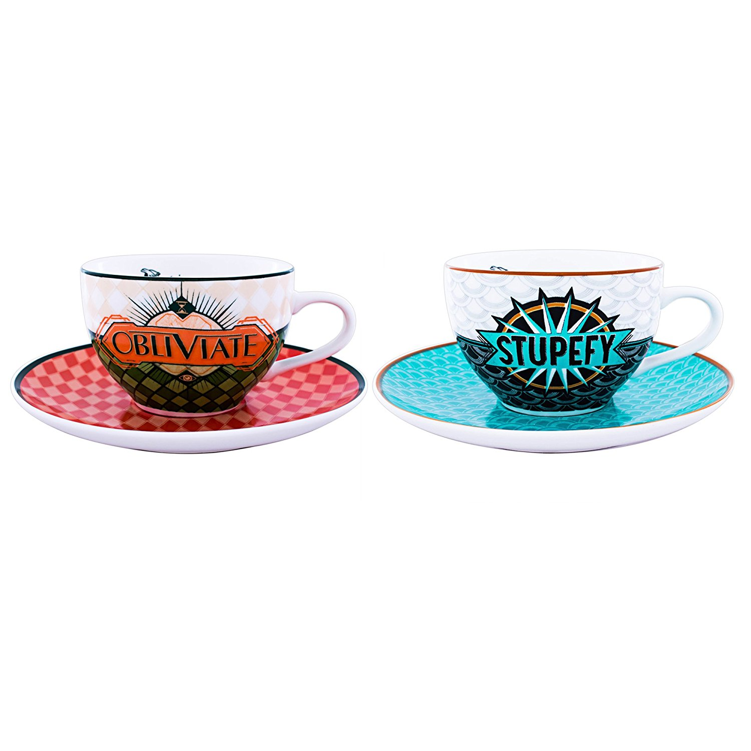 "Harry Potter Fantastic Beasts & Where To Find Them ""Obliviate"" & ""Stupefy"" Spells Tea Cup Set, 2-Pack, $24"