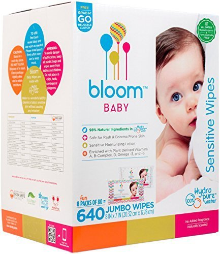 bloom BABY Sensitive Skin Unscented Hypoallergenic Baby Wipes, 640-Count, $26 @amazon.com
