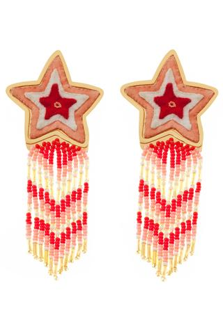 Ethically handcrafted in Colombia, these MAKUA Estrella Pink Earrings will leave her starstruck, $170 @accompanyus.com
