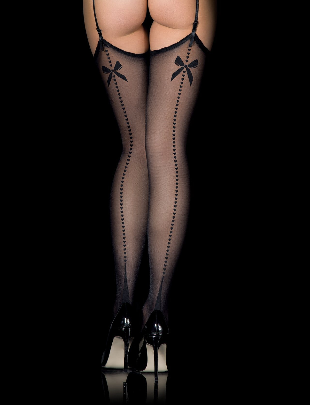 Retro Heart Stockings, $10 @honeybirdette.com