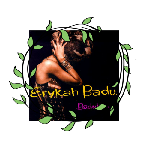 "Erykah Badu posed on the cover of her debut album ""Baduizm"" with her head wrapped in 1997, celebrating her African heritage and contributing to the growing Afrocentrism movement. Source."