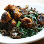 Sweet Potato Gnocchi with Wilted Spinach + Maitake Mushrooms