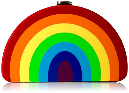 MILLY Rainbow 1/2 Moon Clutch, $295 @amazon.com