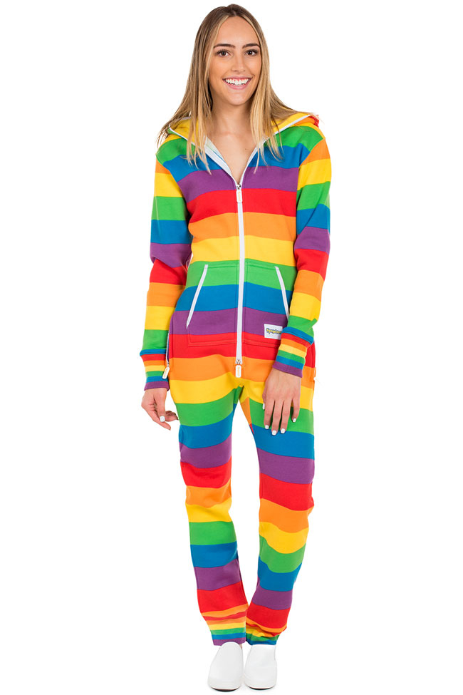 Tipsy Elves Women's Comfy Rainbow Jumpsuit, $59 @amazon.com