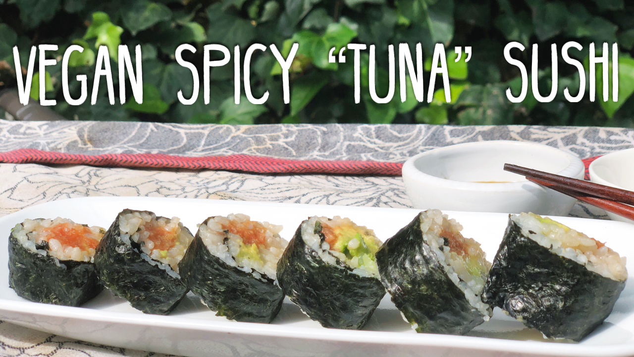 """The Ultimate Vegan Spicy""""Tuna"""" Sushi RollMade Magically From The Flesh Of Tomatoes"""