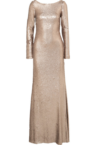 Naeem Khan Draped sequined chiffon gown, $3,795 @netaporter.com