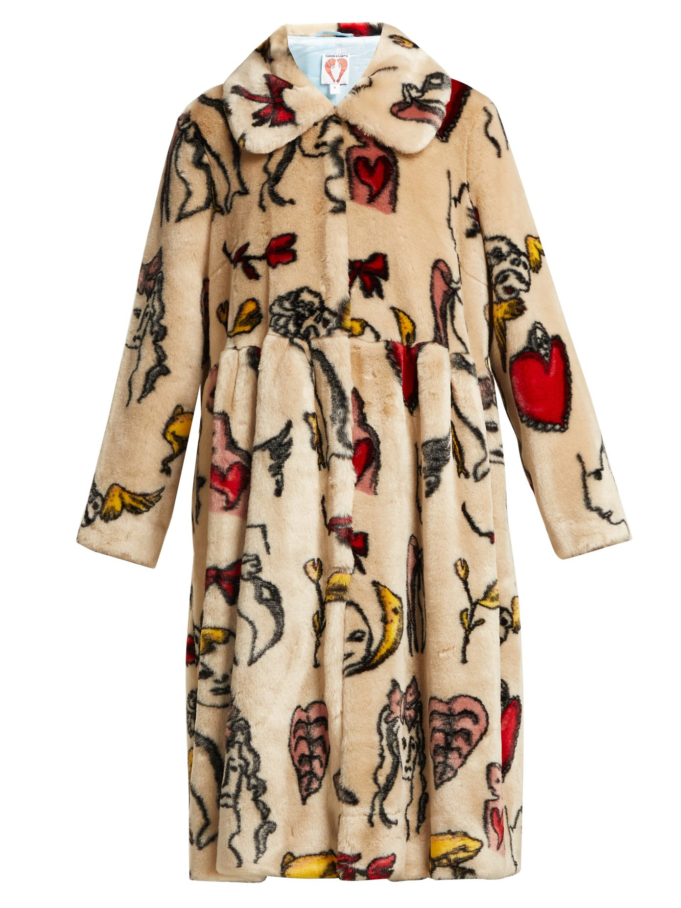 Shrimps Eilis printed faux-fur coat, $750 @matchesfashion.com