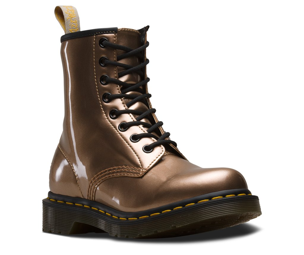 Vegan Chrome Boot in Rose Gold from Dr. Martens, $120 @mooshoes.com