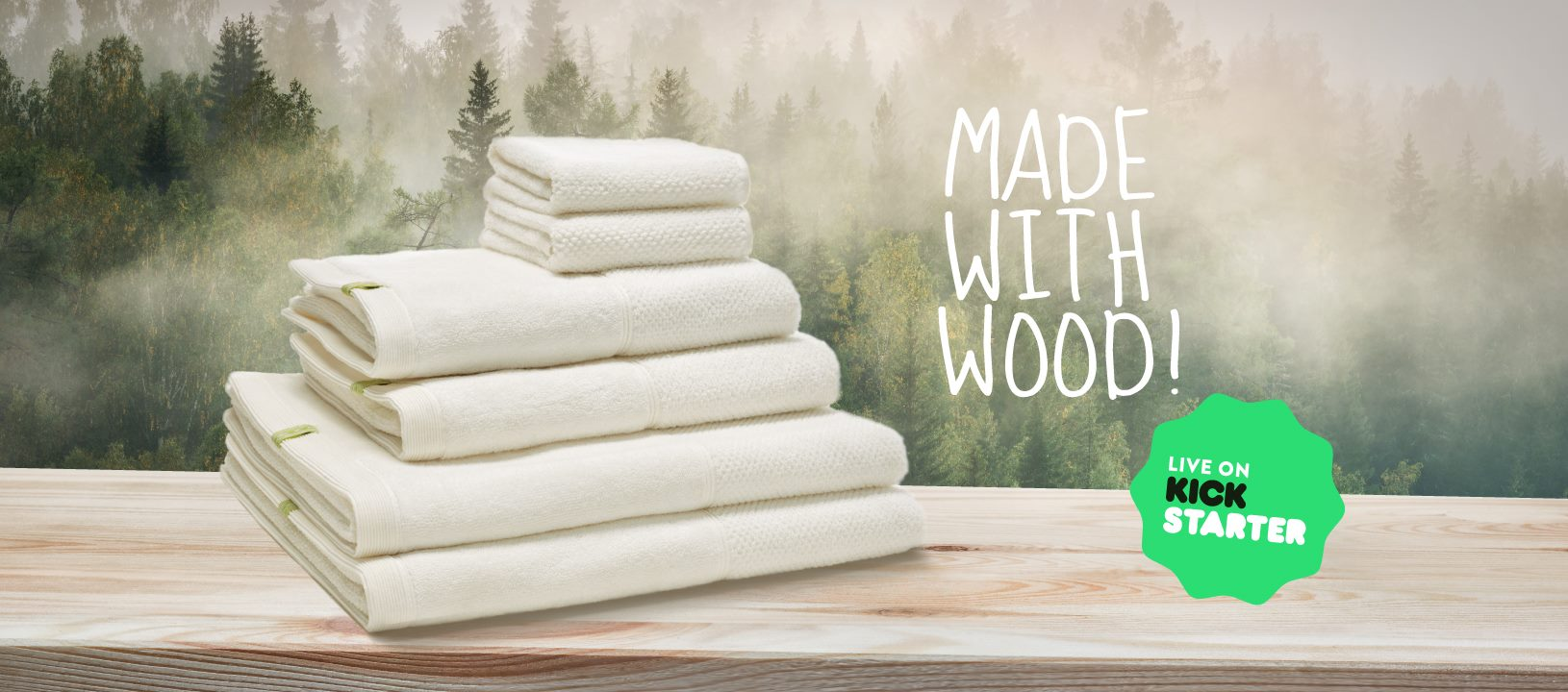 Kushel - The Towel Made with Wood, 19€ & up @kickstarter.com