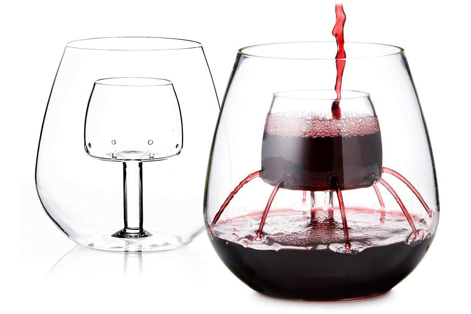 Stemless Aerating Wine Glasses by Chevalier Collection, 2 for $50 @amazon.com