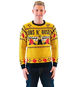 Guns N' Roses Ugly Christmas Sweater, $70 @amazon.com