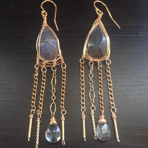 Magical Labradorite Earrings, Made With Reiki, $268 @oliadesigns.com