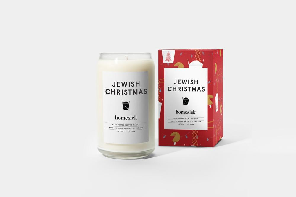 Jewish Christmas Candle, $29 @homesickcandles.com