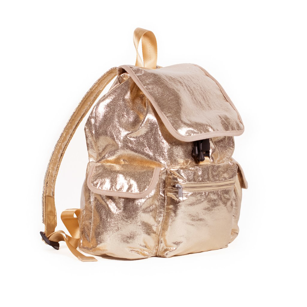 Quilted Koala Adult Backpack: Rose Gold Metallic, $184 @quiltedkoala.com