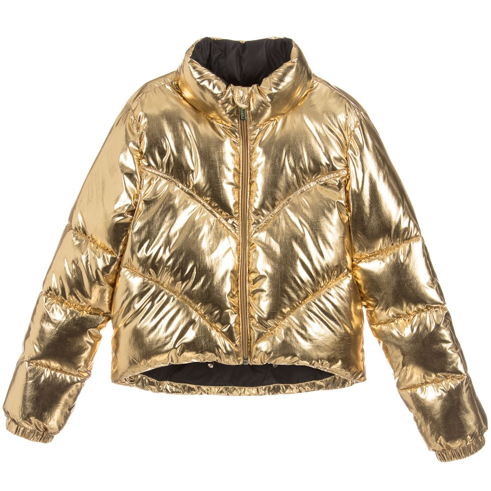 Fun & Fun Kids Gold Puffer Jacket, $164.02 @childrensalon.com