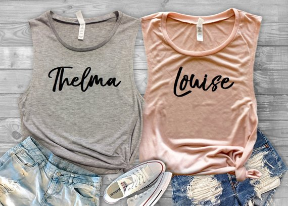 Thelma & Louise Tees for you and your bestie, $14 each @etsy.com
