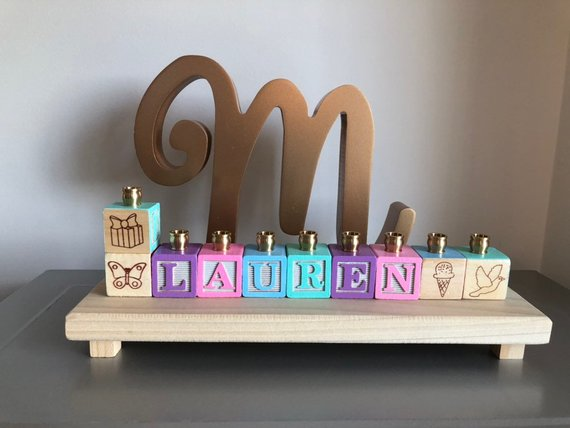 Personalized Menorah, $54 @etsy.com