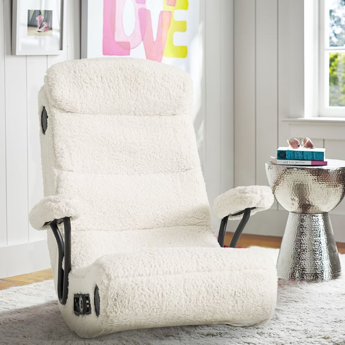 "Ivory Sherpa ""Got Game"" Chair - For use with the Xbox, PlayStation, Game Boy and more, it offers up the ultimate experience for serious play time. $399 @pbteen.com"