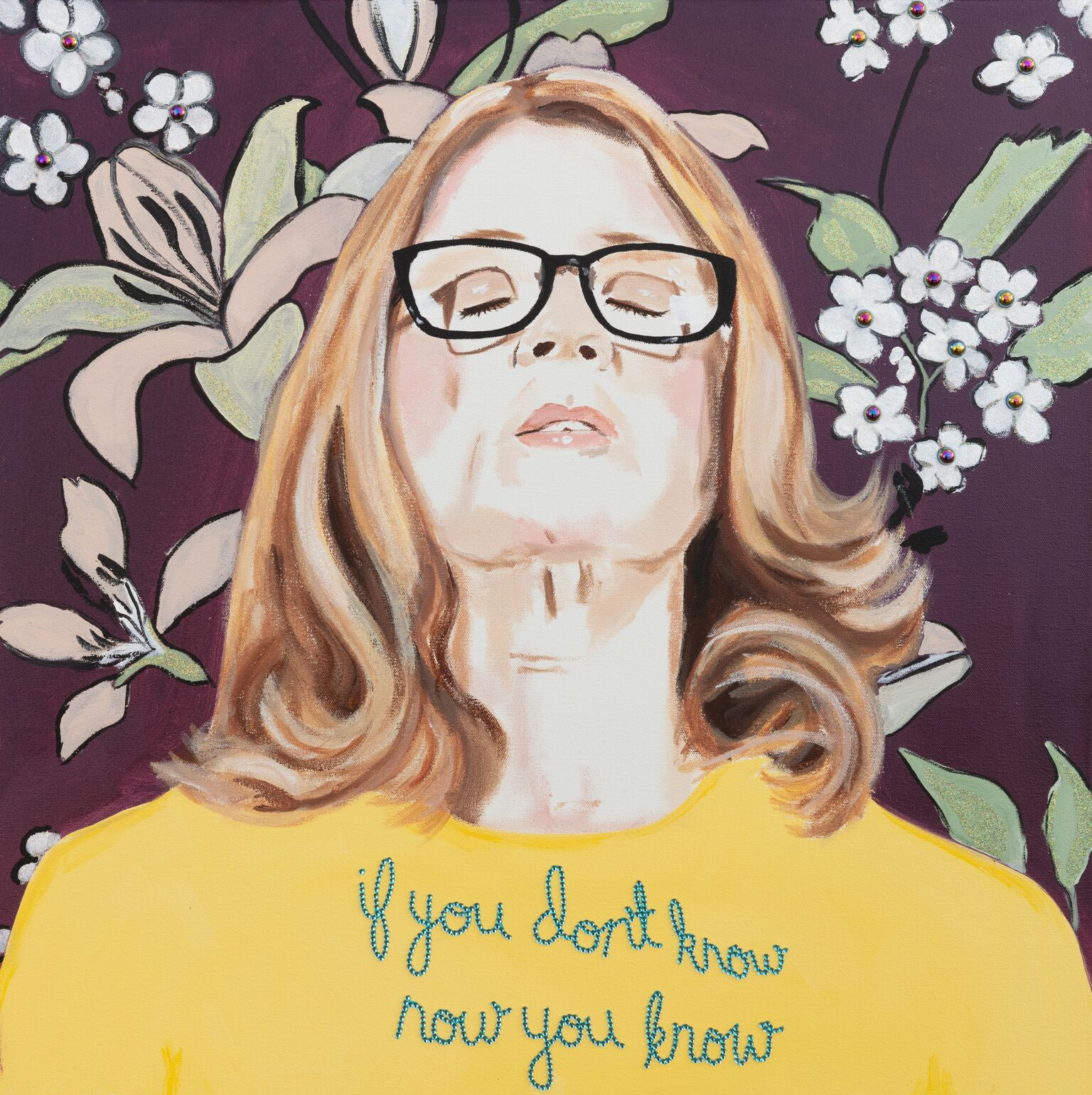 "24x24 Dr. Christine Blasey-Ford ""If You Don't Know, Now You Know"" by Ashley Longshore, 6k ashleylongshore.com"
