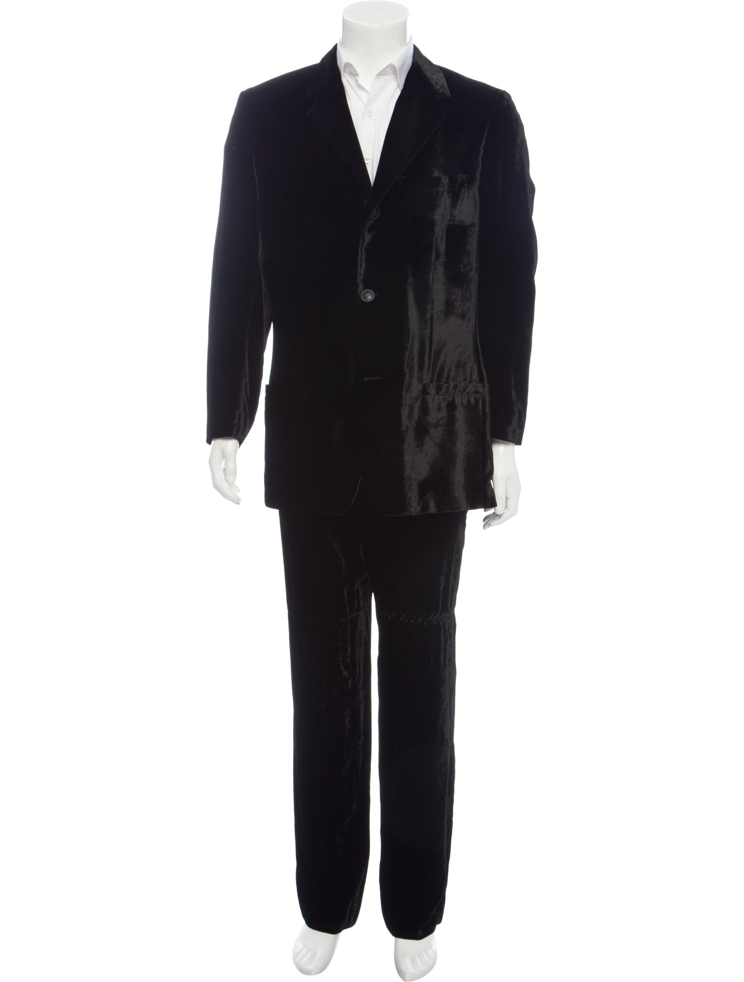 Vintage Versace Velvet Men's Two-Piece Suit, $472 @therealreal.com