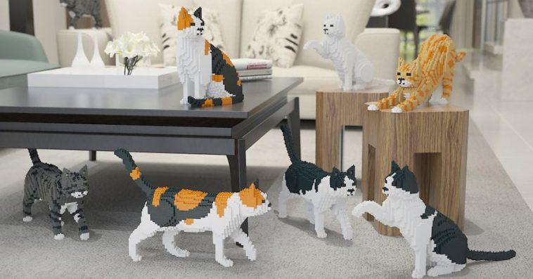 Life sized cat & dog lego sets, approx. $80 each @jekca.com