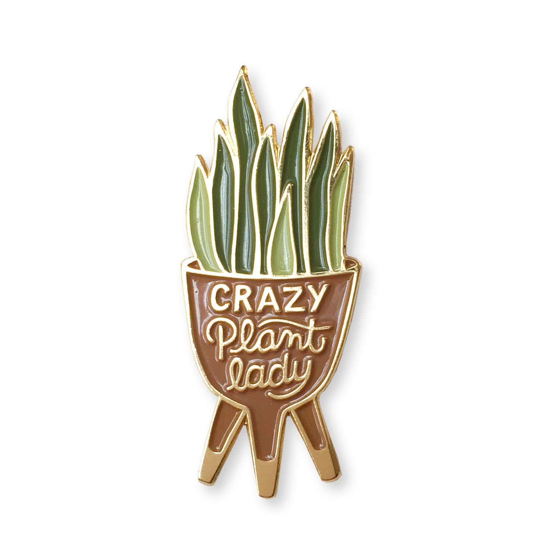 Crazy Plant Lady Enamel Pin, $10.50 @witandwhistle.com
