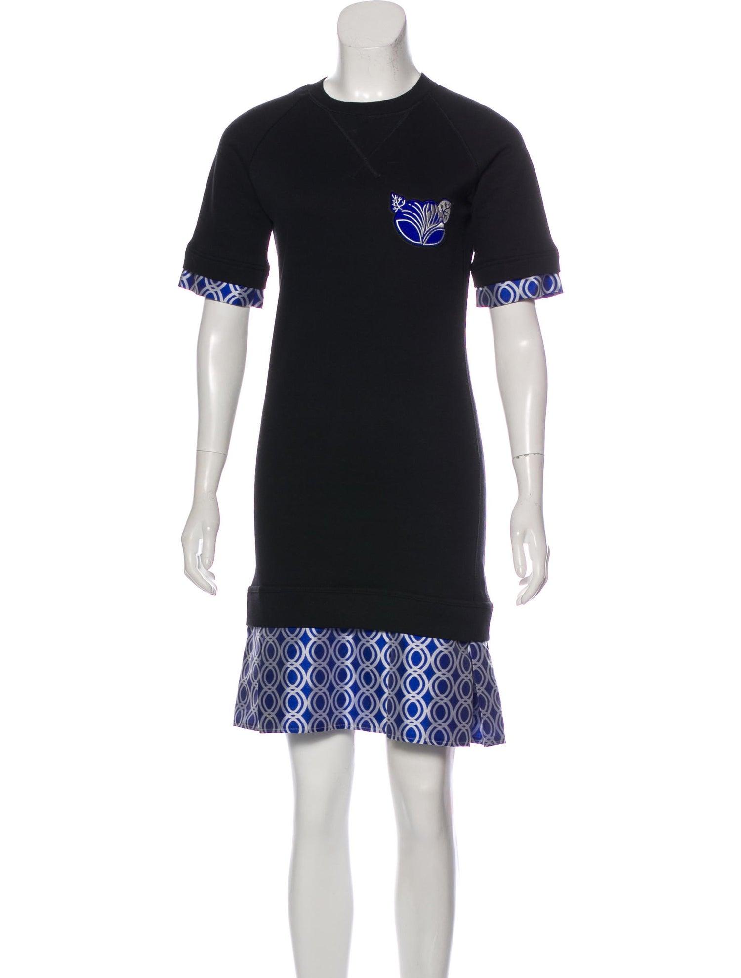 OSTWALD HELGASON Printed Knee-Length Dress, $52 @therealreal.com