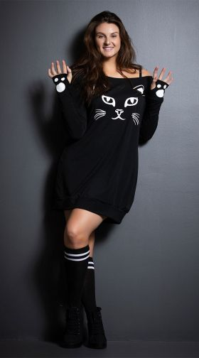 Yandy Kitty T-Shirt Dress, Plus Size - $34 @amazon.com