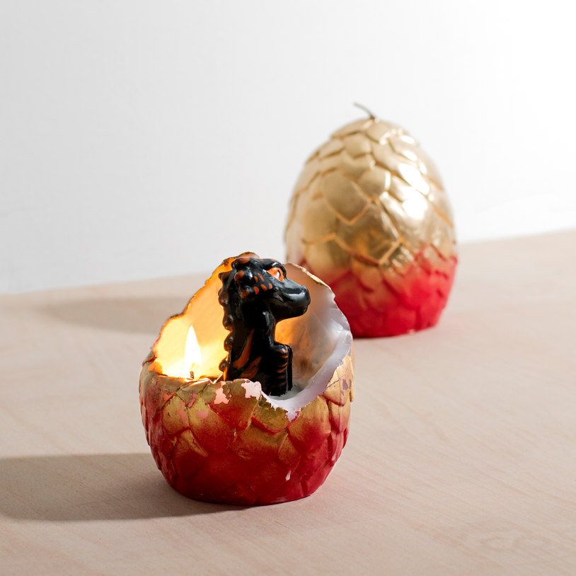 Hatching Dragon Candle, $38 @firebox.com