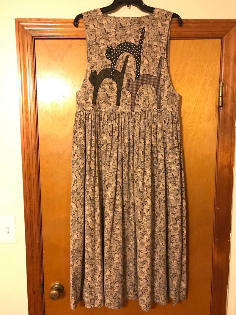 Vintage Cat Lady Dress/ Hannah Will, $45 @etsy.com