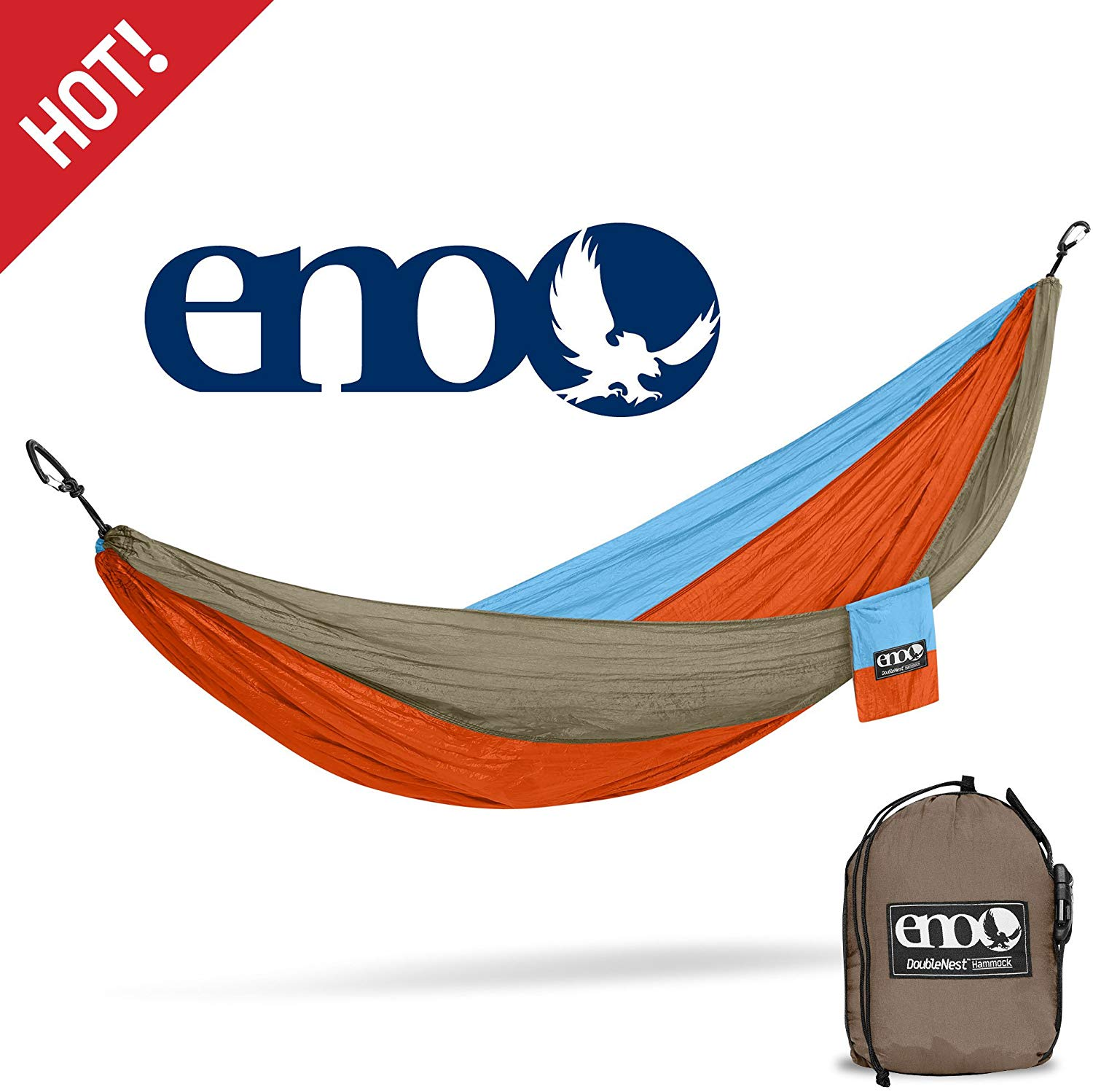 Eagles Nest Outfitters DoubleNest Hammock, Portable Hammock for Two for Outdoor Camping, $69 @amazon.com